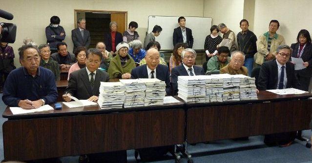 署名76,246筆をもって中村知事宛に申し入れ